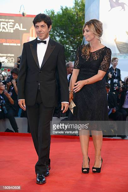 Orizzonti Jury member Pierfrancesco Favino and Anna Ferzetti attend The Reluctant Fundamentalist premiere and opening ceremony during the 69th Venice...