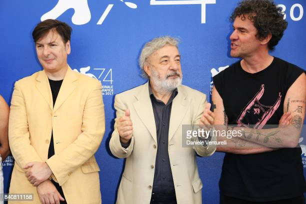 'Orizzonti' jury members Andres Duprat president Gianni Amelio and Mark Cousins attend the Jury photocall during the 74th Venice Film Festival at...