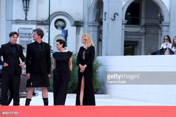 'Orizzonti' jury members Mark Cousins Ami Canaan Mann Fien Troch and Andres Duprat arrive at the Award Ceremony of the 74th Venice Film Festival at...