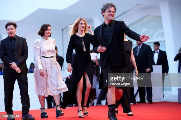 'Orizzonti' jury members Mark Cousins Ami Canaan Mann Fien Troch Rebecca Zlotowski and Andres Duprat arrive at the Award Ceremony of the 74th Venice...