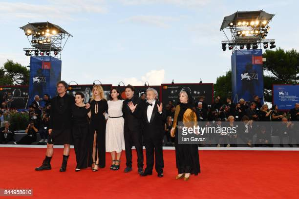 'Orizzonti' jury members Mark Cousins Ami Canaan Mann Fien Troch Rebecca Zlotowski Rakhshan BaniEtemad president Gianni Amelio and jury member Andres...