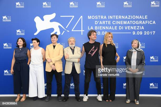 'Orizzonti' jury members Rebecca Zlotowski Ami Canaan Mann Andres Duprat president Gianni Amelio Mark Cousins Fien Troch and Rakhshan BaniEtemad...