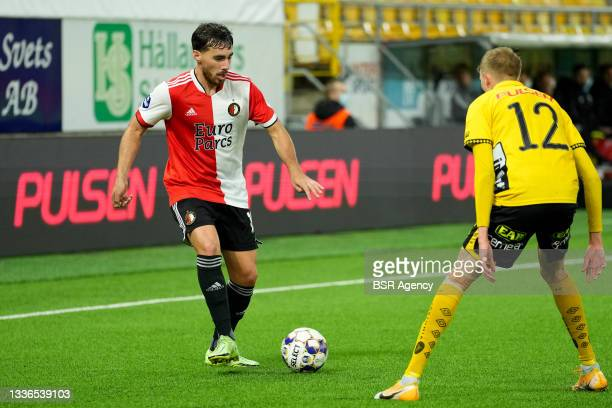 Orkun Kokcu of Feyenoord during the UEFA Conference League match between IF Elfsborg and Feyenoord at Boras Arena on August 26, 2021 in Boras, Sweden