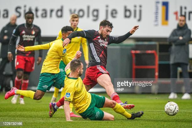 SITTARD Orkun Kokcu of Feyenoord makes a foul for which he gets red during the Dutch Eredivisie match between Fortuna Sittard and Feyenoord at the...