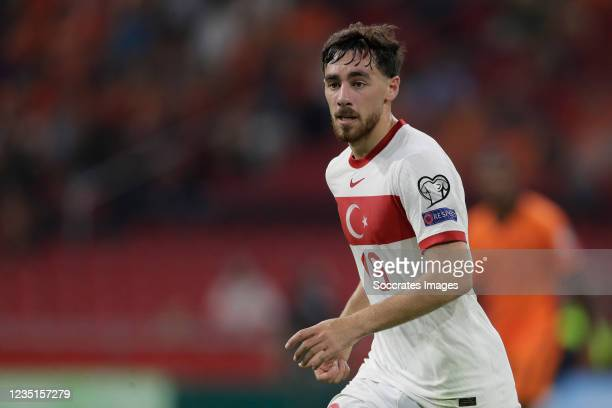 Orkun Kokcu of Turkey during the World Cup Qualifier match between Holland v Turkey at the Johan Cruijff Arena on September 7, 2021 in Amsterdam...