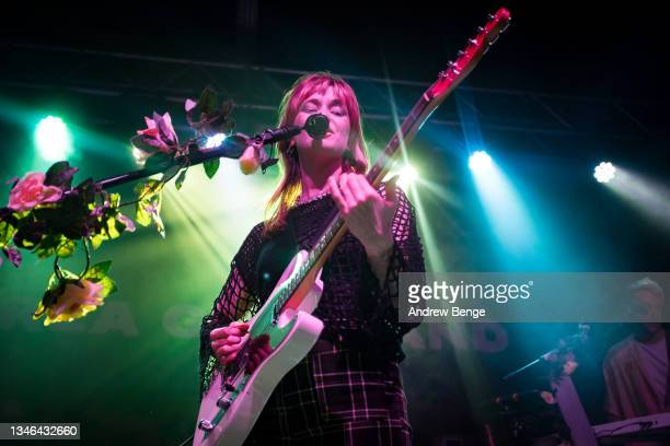 Orla Gartland performs at Stylus on October 13, 2021 in Leeds, England.