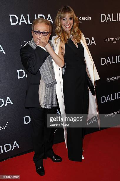 Orlando and Actress Sveva Alviti attend 'Dalida' Paris Premiere at L'Olympia on November 30 2016 in Paris France