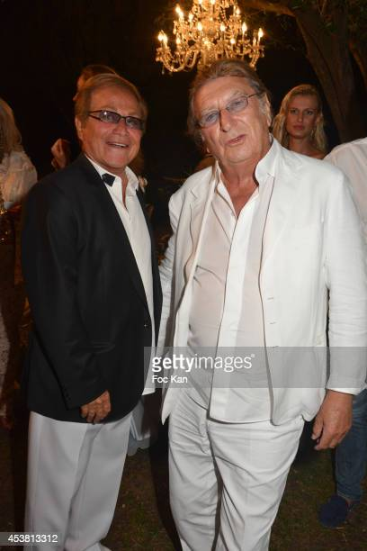 Orlando and Claude Ott attend the Massimo Gargia Birthday Party at Les Moulins De Ramatuelle of Saint Tropez on August 18 2014 in Saint Tropez France
