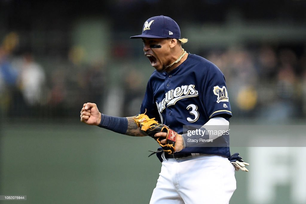 League Championship Series - Los Angeles Dodgers v Milwaukee Brewers - Game Two : News Photo