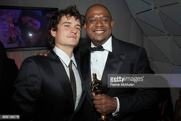 Orlando Bloom and Forest Whitaker attend ; VANITY FAIR Oscar Party at Morton's on February 25, 2007 in Los Angeles, CA.