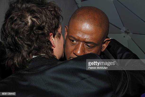 Orlando Bloom and Forest Whitaker attend VANITY FAIR Oscar Party at Morton's on February 25 2007 in Los Angeles CA