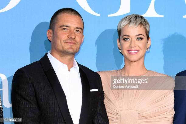 Orlando Bloom and Katy Perry attend the Gala for the Global Ocean hosted by H.S.H. Prince Albert II of Monaco at Opera of Monte-Carlo on September...