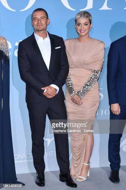 Orlando Bloom and Katy Perry attend the MonteCarlo Gala for the Global Ocean 2018 on September 26 2018 in MonteCarlo Monaco
