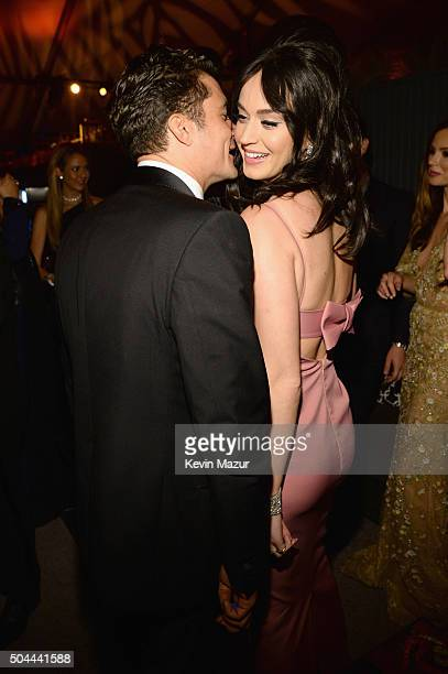 Orlando Bloom and Katy Perry attend The Weinstein Company and Netflix Golden Globe Party presented with DeLeon Tequila Laura Mercier Lindt Chocolate...