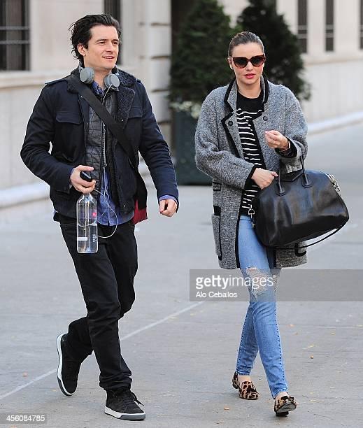 Orlando Bloom and Miranda Kerr are seen on December 13 2013 in New York City