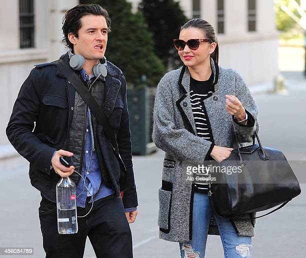 Orlando Bloom and Miranda Kerr are seen on December 13 2013 in New York City