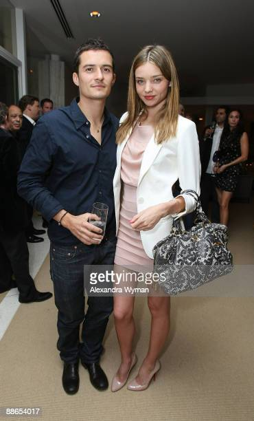 Orlando Bloom and Miranda Kerr at Audi's celebration of the arrival of TDI clean diesel technology held on June 23 2009 in Beverly Hills California
