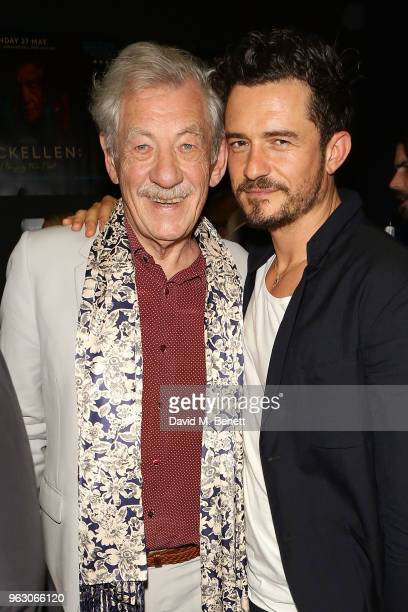 Orlando Bloom and Sir Ian McKellen attend a special screening of McKellen Playing the Part at the BFI Southbank on May 27 2018 in London England