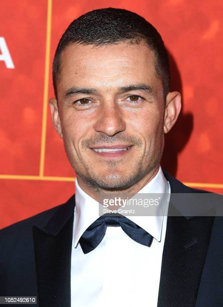 Orlando Bloom arrives at the amfAR Gala Los Angeles 2018 at Wallis Annenberg Center for the Performing Arts on October 18 2018 in Beverly Hills...