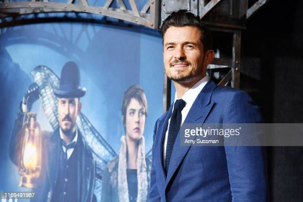 Orlando Bloom arrives at the LA Premiere Of Amazon's Carnival Row at TCL Chinese Theatre on August 21 2019 in Hollywood California