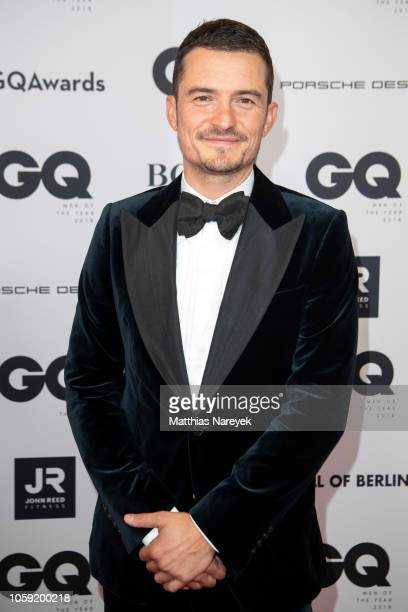 Orlando Bloom arrives for the 20th GQ Men of the Year Award at Komische Oper on November 8 2018 in Berlin Germany