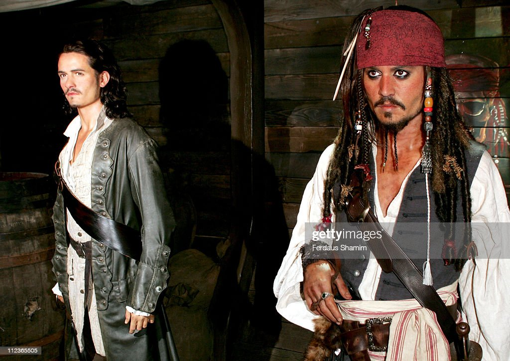"""""""Pirates of the Caribbean"""" Character Wax Figures Unveiled at Madame Tussauds in London - July 5, 2006 : News Photo"""