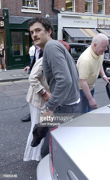 Orlando Bloom at Duke of York's Theatre for performance in play 'In Celebration' on August 1 2007 in London England
