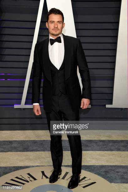 Orlando Bloom attends 2019 Vanity Fair Oscar Party Hosted By Radhika Jones Arrivals at Wallis Annenberg Center for the Performing Arts on February 24...