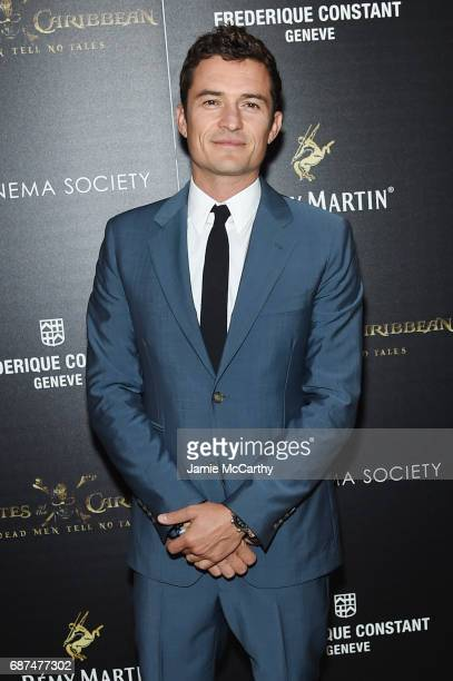Orlando Bloom attends a screening of Pirates Of The Caribbean Dead Men Tell No Tales hosted by The Cinema Society at Crosby Street Hotel on May 23...
