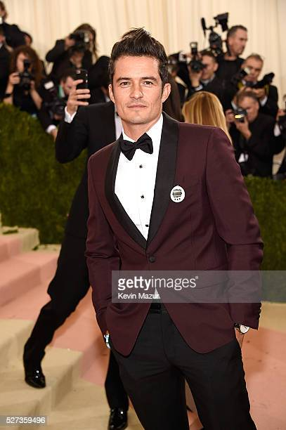 Orlando Bloom attends 'Manus x Machina Fashion In An Age Of Technology' Costume Institute Gala at Metropolitan Museum of Art on May 2 2016 in New...