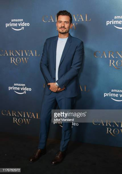 Orlando Bloom attends the Amazon Original series Carnival Row London Screeing at The Ham Yard Hotel on August 28 2019 in London England
