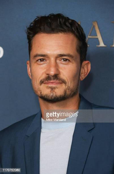 """Orlando Bloom attends the Amazon Original series """"Carnival Row"""" London Screeing at The Ham Yard Hotel on August 28, 2019 in London, England."""