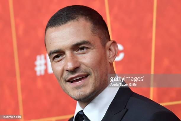 Orlando Bloom attends the amfAR Gala Los Angeles 2018 at Wallis Annenberg Center for the Performing Arts on October 18 2018 in Beverly Hills...