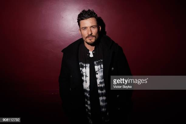 Orlando Bloom attends the Balmain Homme Menswear Fall/Winter 20182019 aftershow as part of Paris Fashion Week on January 20 2018 in Paris France