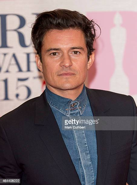 Orlando Bloom attends the BRIT Awards 2015 at The O2 Arena on February 25 2015 in London England
