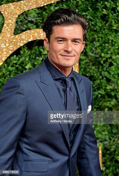 Orlando Bloom attends the British Fashion Awards 2015 at London Coliseum on November 23 2015 in London England