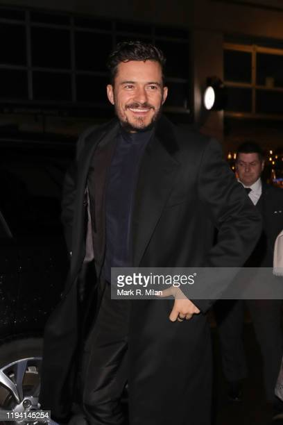 Orlando Bloom attends the Flaunt x Dunhill party at Alfred Dunhill Bourdon House on December 15 2019 in London England