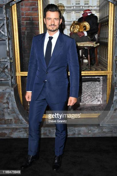 Orlando Bloom attends the LA premiere of Amazon's Carnival Row at TCL Chinese Theatre on August 21 2019 in Hollywood California