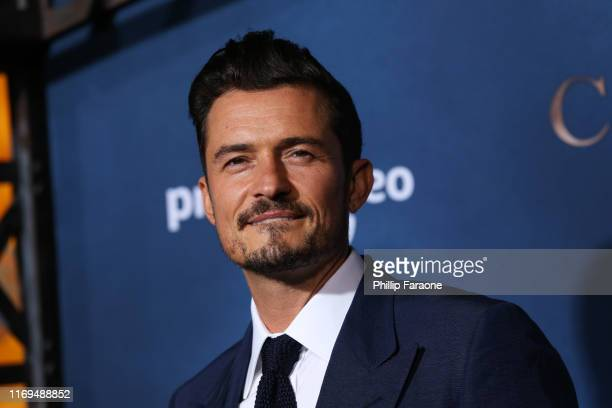 """Orlando Bloom attends the LA premiere of Amazon's """"Carnival Row"""" at TCL Chinese Theatre on August 21, 2019 in Hollywood, California."""