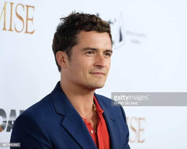 Orlando Bloom attends the premiere of 'The Promise' at the Chinese theatre in Hollywood on April 12 2017 / AFP PHOTO / CHRIS DELMAS