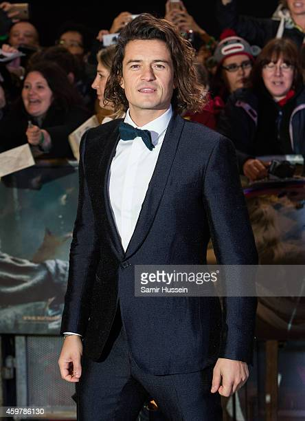 Orlando Bloom attends the World Premiere of 'The Hobbit The Battle OF The Five Armies' at Odeon Leicester Square on December 1 2014 in London England