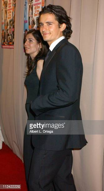 Orlando Bloom during 2005 Glamour/Miramax Golden Globes PartyArrivals at Trader Vic's in Beverly Hills CA United States
