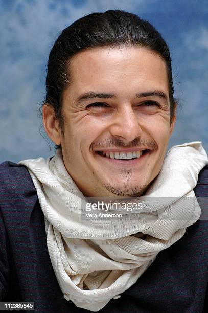 Orlando Bloom during 'Pirates of the Caribbean Dead Man's Chest' Press Conference with Johnny Depp Orlando Bloom Gore Verbinski and Jerry Bruckheimer...