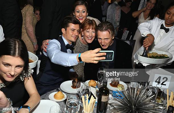Orlando Bloom guest and UNICEF Goodwill Ambassador Liam Neeson attend the 11th Annual UNICEF Snowflake Ball Honoring Orlando Bloom Mindy Grossman And...