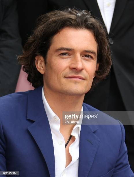 Orlando Bloom is honored with a star on the Walk of Fame on April 2 2014 in Hollywood California