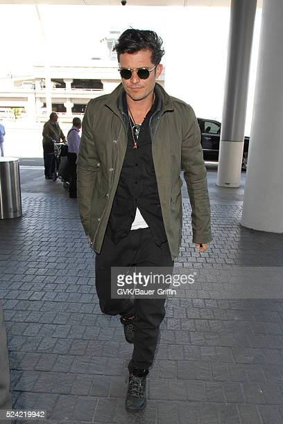 Orlando Bloom is seen at LAX on April 25 2016 in Los Angeles California