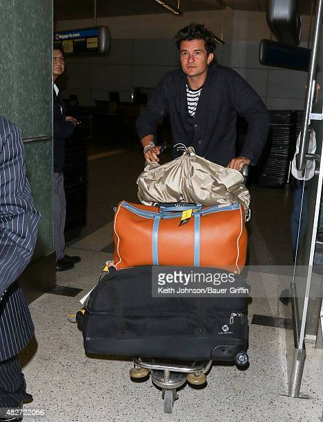 Orlando Bloom is seen at LAX on August 01 2015 in Los Angeles California