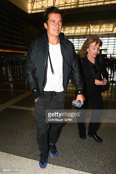 Orlando Bloom is seen at LAX on September 27 2015 in Los Angeles California
