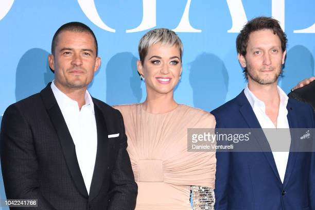 Orlando Bloom Katy Perry and Lior Suchard attend the Gala for the Global Ocean hosted by HSH Prince Albert II of Monaco at Opera of MonteCarlo on...