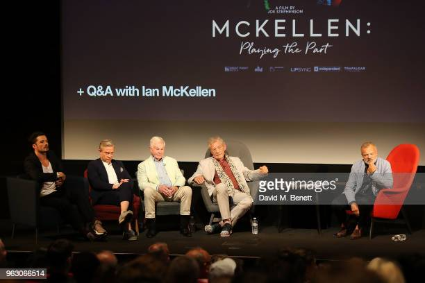 Orlando Bloom Martin Freeman Derek JacobiSir Ian McKellen and Graham Norton attend a special screening of 'McKellen Playing the Part' at the BFI...